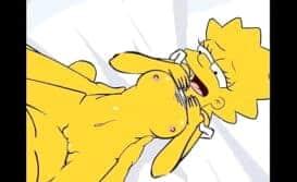 Desenho Simpsons Nua